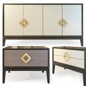 Комод и тумба  Laurent. Sideboard, nightstand. The Sofa & Chair compani