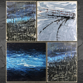 Paintings abstract   set 388