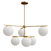 Sphere  Stem 7-Light Chandelier