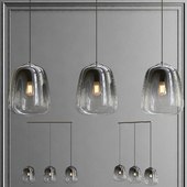 BelaLuz Hanglamp Smoaked 3-lichts