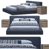 RH - Cloud Platform Slipcovered Bed