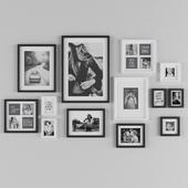 Black and white metal frames