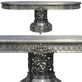 Обеденный стол на ажурной опоре - mcm/0025