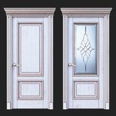 Дверь Белоравуд АРТ2 Белая (Патина бронза)