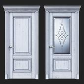 Дверь Белоравуд АРТ2 Белая (Патина серебро)