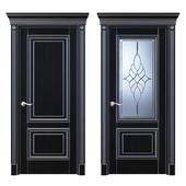 Дверь Белоравуд АРТ2 Венге (Патина серебро)