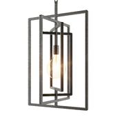 Pivot Black Caged Pendant Light