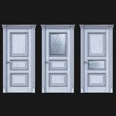 Дверь Белоравуд АРТ3 Белая (Патина серебро)