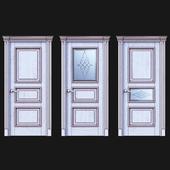 Дверь Белоравуд АРТ3 Белая (Патина бронза)