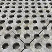Paving title hole / Брусчатка плиты с отверстиями