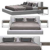 RH - Cloud Platform Slipcovered Bed And Kennan Bedside Table