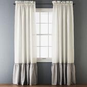 Ruffled Cotton Curtains