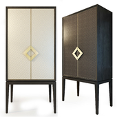 Cabinet with leather doors, Laurent cabinet. The Sofa & Chair compani
