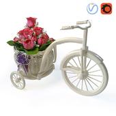 Велосипед с цветами