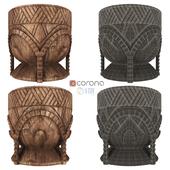 Restoration Hardware Hand Carved African Mortar