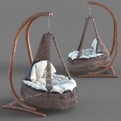 Hanging wicker chair swing BestaFiesta