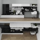 TV stand & workzone set 055