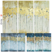 Madison Park Forest Gel Coat Canvas with Gold Foil \ Collection