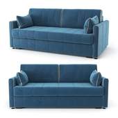 Straight, blue Rimmini sofa bed, velor