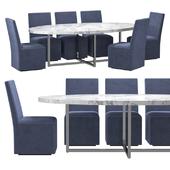 RH - Ellison Marble Oval Table