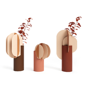 (OM) Gabo and Delaunay and Ekster vases CS7 by NOOM
