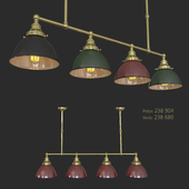 Billiard Table Light 4 lamp holders (Colored Shaders)