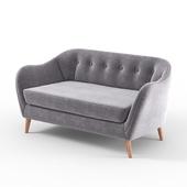 Прямой, серый, двухместный диван DAVEN от  BUT, в скандинавском стиле.