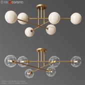 Aksel 6 Light Brass Chandelier