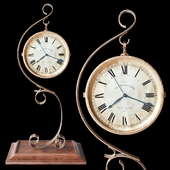 Gold table clock