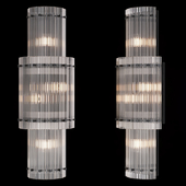 Restoration Hardware SAN MARCO ROUND DOUBLE SCONCE Black