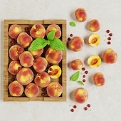 Поднос с персиками