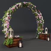 Свадебная арка с цветами 3501