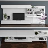 TV stand & workzone set 056