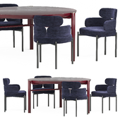 Meridiani Zeno стол, Sylvie стул