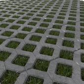 Газонная бетонная решетка