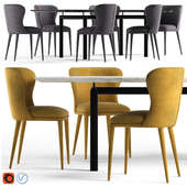 Globewest Amara Table and Eloise Chair