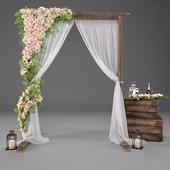 Свадебная арка с цветами 3601