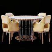 Ale Table-Judit Flexform Armchairs Set