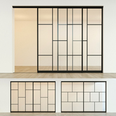 Sliding partition door 14