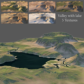Valley with a lake (5 textures)