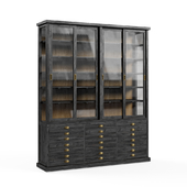 MOLIERE Black Recycled Pine Drawer Display Case