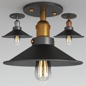 retro semi flush ceiling light
