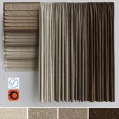 A set of curtains + a set of Roman curtains 2. Beige range