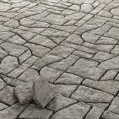 Paving old rock stone / Старая скальная  каменная брусчатка