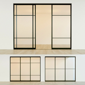 Sliding partition door 17