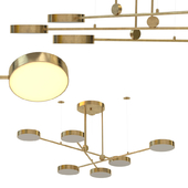 Chandelier techum in gold color