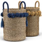 Big Sur Basket, Tassel Basket