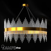 Chandelier Gold Glass Sticks
