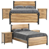 Structura Rustic Bed