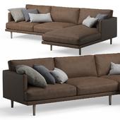 Ottilie Chaise Leather Corner Sofa